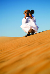 A Busy Photographer .. (Faris .M) Tags: portrait colors by nikon desert angle wide taken mm f28 liwa d300 2470mm fares