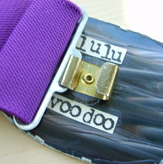 purple skeleton belt back (lulu.voodoo.) Tags: collage belt handmade chinese recycle buckle