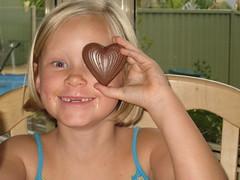 Christy and chocolate
