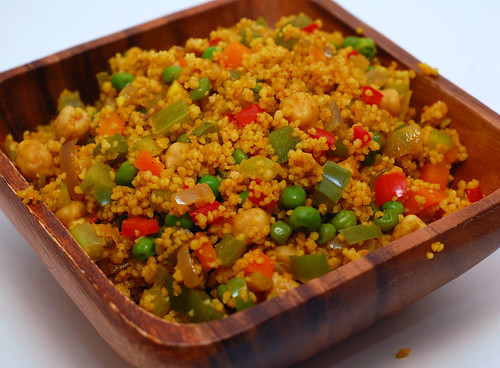 Curry Couscous with Chickpeas