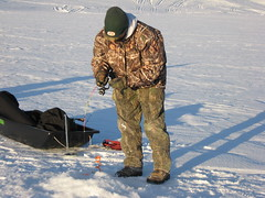 Brian Catching a Lake Trout (fethers1) Tags: icefishing laketrout greenmountainreservoir