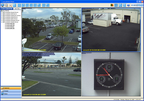 exacqVision StarDot demo server 2x2 view
