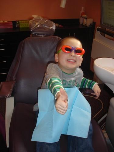 Mason at the dentist
