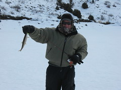Eric With a Windy WF Lake Trout (fethers1) Tags: icefishing laketrout williamsforkreservoir