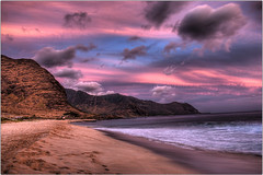 Cotton-Candy (Seth Basista) Tags: ocean sky mountain mountains beach water clouds hawaii sand nikon waves natural pacific oahu secretbeach shore ripples nikkor hdr 9exp sethbasista