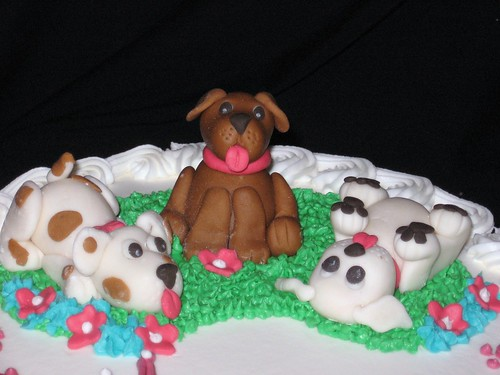 Fondant Puppies for Birthday Cake