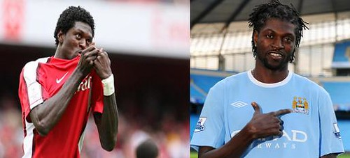 Adebayor adores two different badges in the space of a year