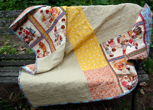 vintage inspired quilt backside