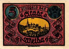 Weida, 5 pf, 1921 (Iliazd) Tags: notgeld germaninflationarycurrency emergencymoney germanpapermoney