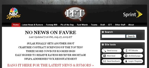 No News On Favre - ProFootballTalk.com - 07/26/09