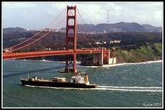 Freighter Entering San Francisco Bay (lhg_11, 2million views. Thank you!) Tags: sanfrancisco california clouds nikon bridges goldengatebridge kodachrome ggnpc11