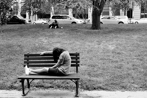 Girl in Square