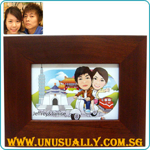 Caricature Drawing On Photo Frame
