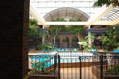 Sheraton Pool, retracted roof