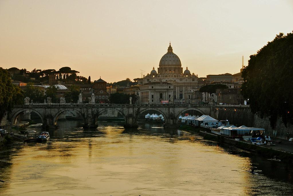 Vatican City at a distance