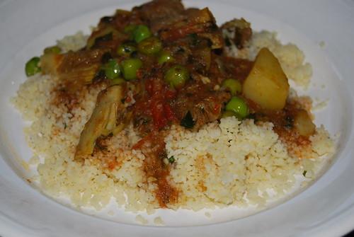 couscous met lamsstoofvlees en gehaktballetjes