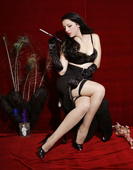 Me Noir Pin-Up Calendar (luna corleone) Tags: cute vintage highheels cigarette lips retro smoking exotic 1940s 1950s glam redlipstick blackhair pinup holder filmnoir vintageclothing blackdahlia americanvintage