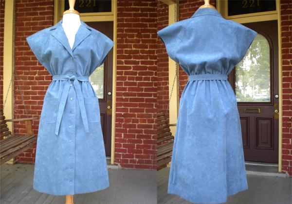 Ebay 70's Suede Kimono Dress