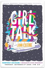 GIRLTALK flyer (Willbryantplz) Tags: poster flyer spaceshuttle girltalk mississippistateuniversity junkculture
