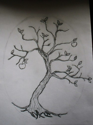 tree drawing with roots. The tree is for family, roots