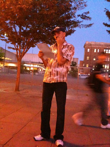 Participant in the candlelight vigil and rally