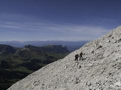 Walking to the top - Sassolungo Plattkofel, Dolomiti