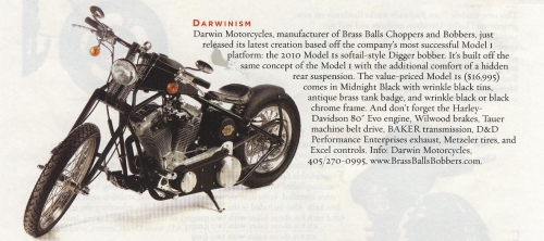 American Iron Magazine showcases the Model 1S