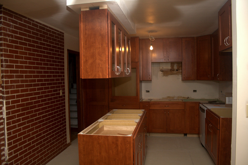 I have cabinets!