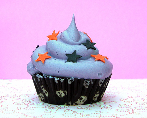 Purple buttercream and stars
