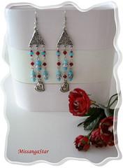 D82 (Natalocas) Tags: blue red glass vidro metal azul handmade craft jewelry bijoux vermelho earrings brincos turquesa bijuterias bijutarias cristaisswarovski