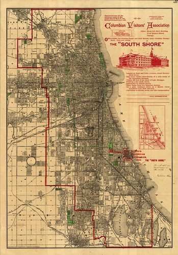 Map of the Week 5 Chicagos World Fair 1893 Outside the Neatline