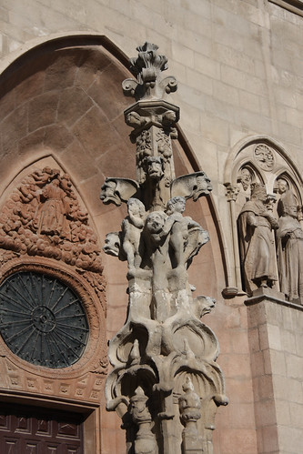 Weird Gargoyle Pillar