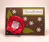Origami Rose Christmas Card
