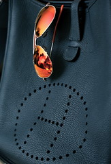 H (BA) Tags: blue orange sunglasses dark bag 33 h hermes rayban
