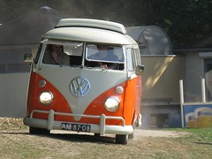 AM-87-08 bus van Bas Blokker (Spijlbussen.nl) Tags: vw volkswagen safari bas wit kees transporter t1 oranje 1965 westfalia splitscreen spijlbus splitbus am8708 s042