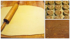 The process of cinnamon roll making