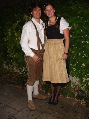 Meghan and Stefan in their Bavarian garb