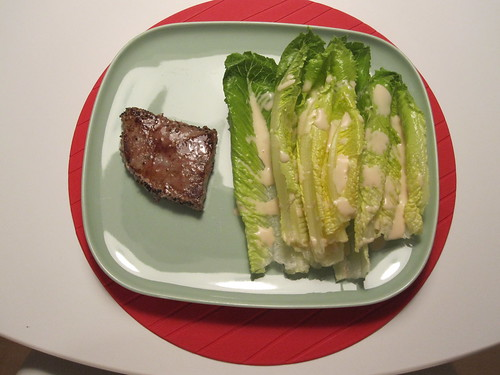 Steak and a salad