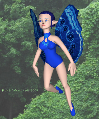 Blue Fairy Flies 1