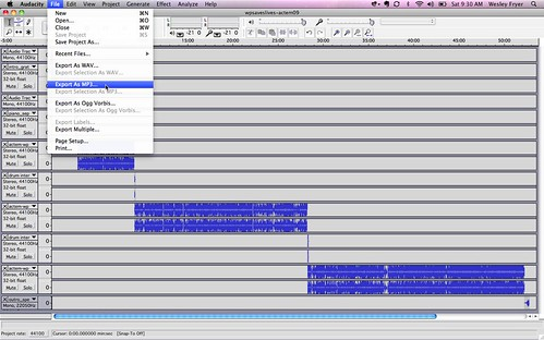 Export Audacity as MP3