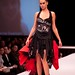 Student designer Katherine Swanson's reconstructed punk t-shirt gown