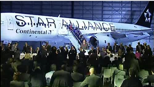 Continental's 757 in Star Alliance livery unveiled