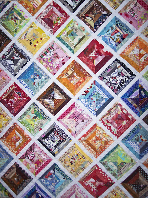 "front of completed ""a little help from my friends"" quilt"