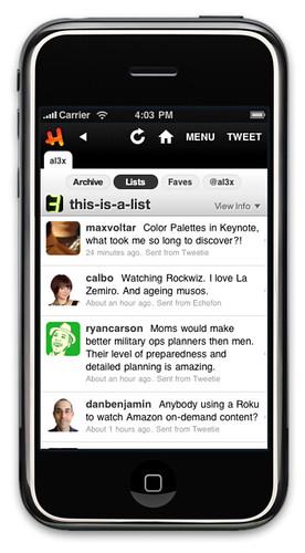 Hahlo 4.1 Mockup - List Timeline