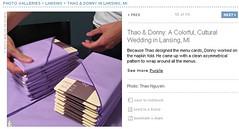 Real Weddings Feature screenshot of diy napkin fold
