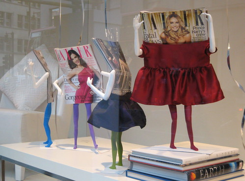 Tatler's birthday window display in Moschino da accidentallondoner.