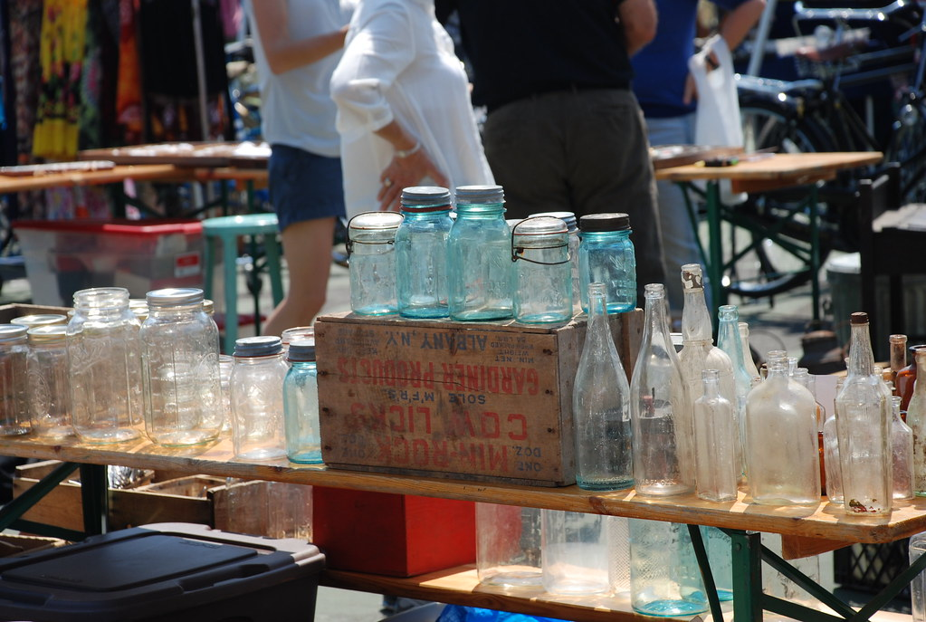 glass at the Brooklyn Flea