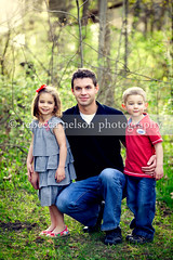 Uncle Jack and the Kids III (Rebecca812) Tags: family trees boy portrait male girl vertical kids children togetherness adult uncle foliage niece nephew lush canon5dmarkii rebecca812 heritage2011 woodedlocation