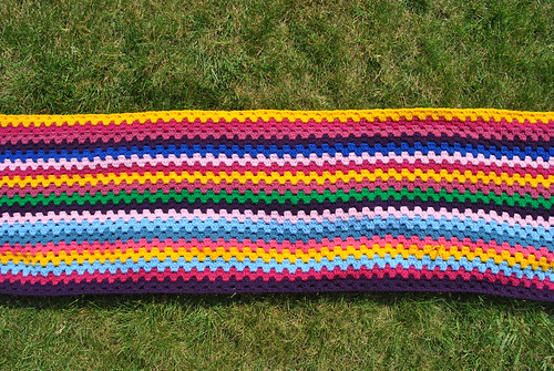 Big Happy Blanket progress - April/May 2011