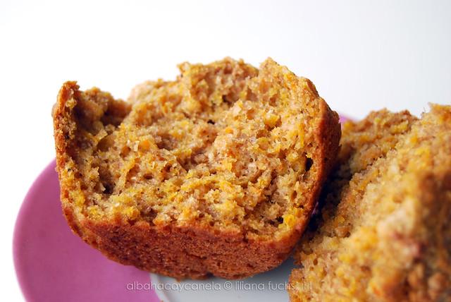 Spelt carrot muffins